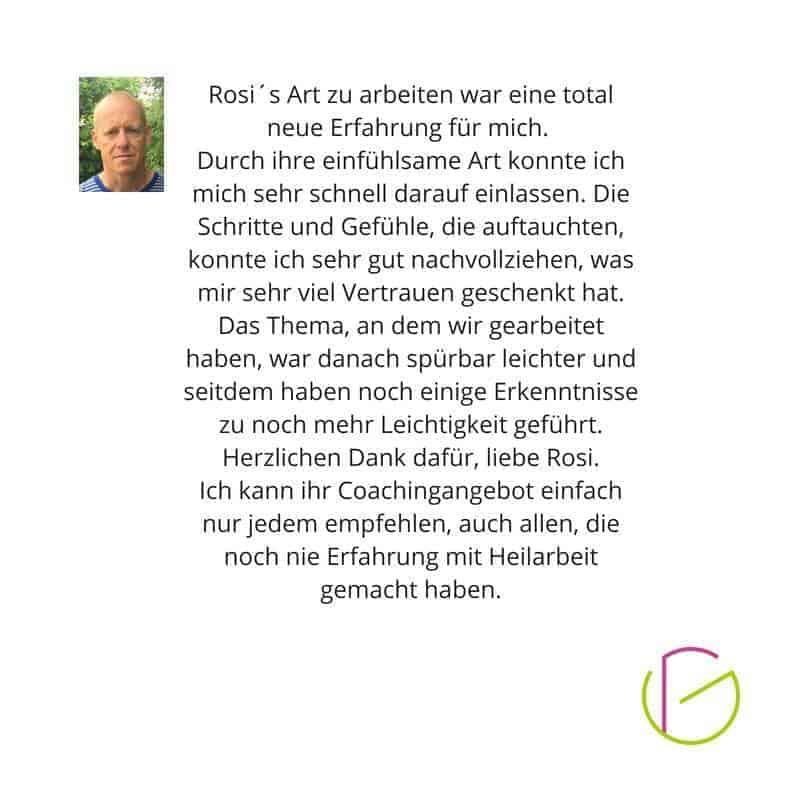 Feedback Rosi Gähwiler Coaching